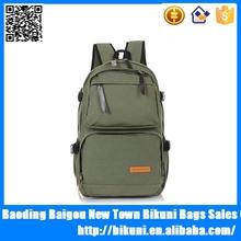China wholesale unisex fashion backpacks rucksack travel canvas army green backpack