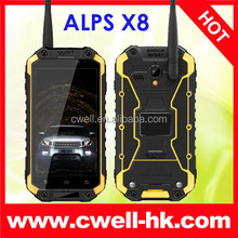 Android 4.4 Kitkat 13MP Camera UHF Walkie Talkie ALPS X8 octa core landrover a9 rugged smart phone