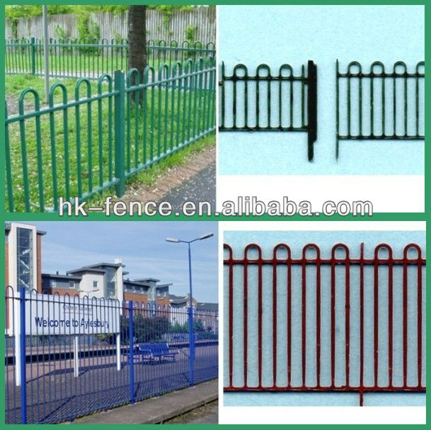 Loop top fencing double ornamental fence view