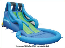 high quality inflated playground water slide with UL blower