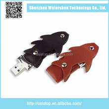 2015 Hot selling Popular Leather 16gb diy usb flash memory