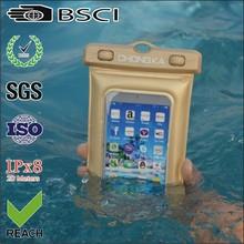 pvc clear waterproof neck case/boating waterproof bag for iphone/plastic waterproof phone case