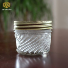4oz 120ml round clear glass jar for pickles wholesale