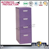 Office furniture china purple file cabinet/ metal 4 drawer cabinet