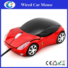 Car shaped mouse rohs mouse drivers with headlight and custom logo