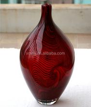 Customized hand blown art murano glass vase made in china