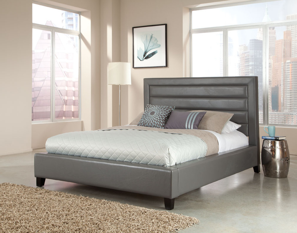 Leather Bed With Crystals,Leather Upholstered Bed,Leather Tv Beds ...