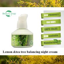 Lemon&Tea Tree Skin Purifying and Balancing Night Cream/organic night cream