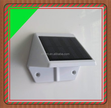 New design triangle style 3c certificate solar fence lamp 4 pcs LED wall light garden outdoor solar wall light