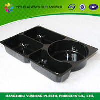 Plastic material food use disposable dessert tray