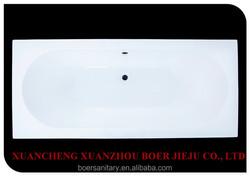 normal acrylic straight bathtub cheapper markert 1600*700mm