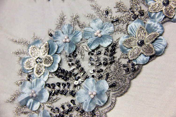 Wholesale new hand work beading embroidery lace