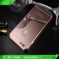 Wholesale metal frame case for iphone 6s with mirror man & woman styles popular