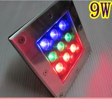 Reasonable price led paver light square led uplights 9w outdoor in ground garden light 12v