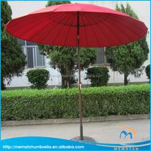 24K crank open system sun garden umbrella with tilt