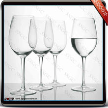 handmade clear red wine glass