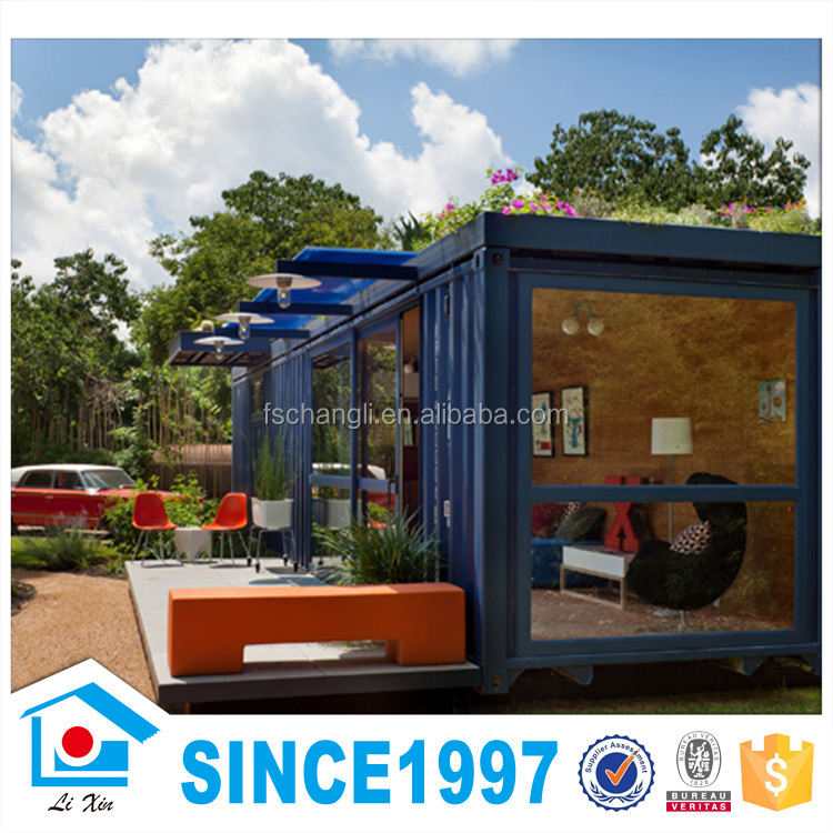 Pre made in china new design prefabricated steel and glass for Prefab glass house prices