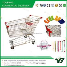Hot sell good cheap 180 liter zinc with powder Asian style supermarket cart (YB-A51)