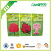 high quality custom hanging paper air freshener/flower/rose/lily/coconut design paper car air freshener in China