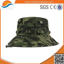 fashion plain camo bucket cap/military bucket caps/wholesale 100% cotton bucket hat