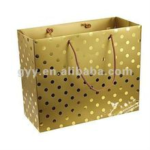 2012 GYY handmade golden paper carrier bag with rope handle