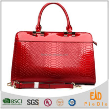 S355-A2356 hot selling sexy patent snake leather woman handbag for china wholesale