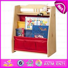 2015 Colorful kids wooden bookshelf,Fashion living room furniture wooden bookshelf,Portable children Wooden Book Shelf W08D044
