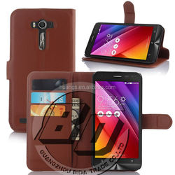 Top Selling Durable magnetic credit card slots kickstand leather case for ASUS ZenFone 2 Laser ZE550KL luxury case lowest price