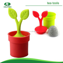 Low price leaf shape silicone tea bag infuser wholesale