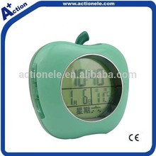 Apple Shape Alarm Clock with Time Reporting
