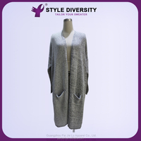 2015 high quality promotional 100% Cotton Women new style Cardigan lady Sweater wholesale