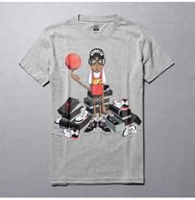 Playing basketball in the summer Men's men's cotton short sleeve T-shirt