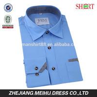 2015 New arrival contrast color men broadcloth slim fit casual dress men shirt