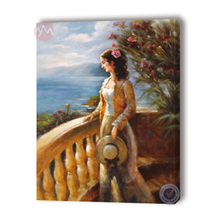 Hand made art beautiful lady figure oil painting for room paintings