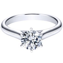 Diamond solitaire ring cooper alloy jewelry ring