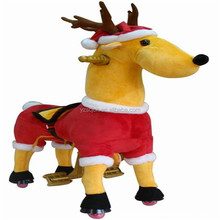 2015 christmas stuffed horse plush toy with red cat for children