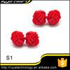 Free Shipping double ball silk knot cufflink S1-S7