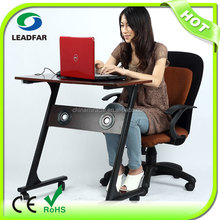 Reliable multimedia MDF laptop table with fan