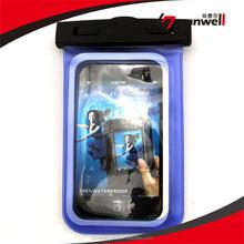 Adjustable Elastic Velcro Waterproof Bag, Logo Printed Lanyard/ Arm Band Waterproof Case