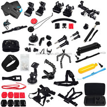 cheap price gopros accessories kit 25-1 go pro he ro 4 camera bag suction cup gopros action camera accessories