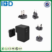 IBD Original design QC 2.0 International Dual USB travel charger UK plug wall charger wholesale for Fujitsu Arrows NX LG g3