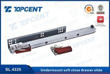 300mm-550mm Soft closing 3 fold full extension undermount drawer slide