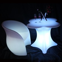 2015 New product high quality waterproof led chair and LED dinning set 16 Colors Changing Plastic LED Sofa/Lounge Chair LGL55-S