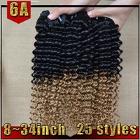 2015 Wholesale Virgin Brazilian Two Tone Ombre Remy Hair Weaving