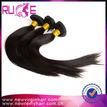 Natural black 3 tone factory price 7A low cost 20inch original peruvian straight hair