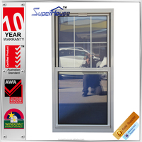 Australian standard as2047 aluminum up down double sliding window with double track