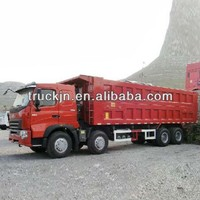 HOWO A7 8*4 Tipper/SINOTRUK dump truck construction company used