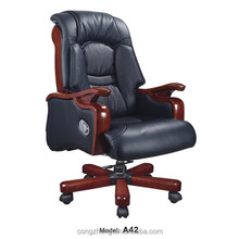 Top grade wooden leather office chair , executive office chair