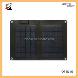 Thin film 10 Watts flexible solar charger, flexible solar panel, solar pack for mobile phone