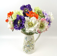 Small long stem artificial flowers for home decoration